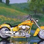 foto-moto-custom-amarela