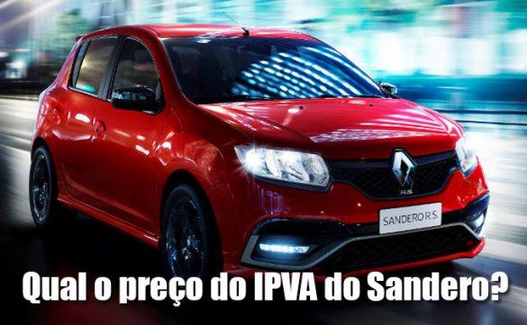 Qual o preço do IPVA do SAndero
