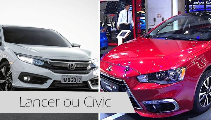 Lancer ou Civic - Qual o melhor, Preços, Versões, potência, consumo, fotos